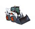Bobcat S770 skid-steer loader with flail mower attachment