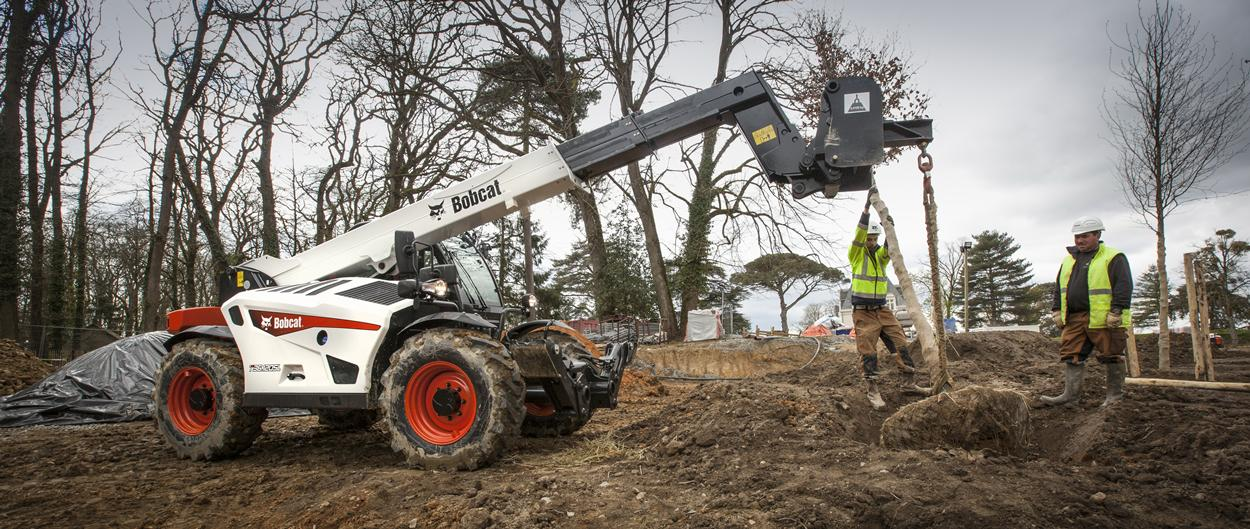 Bobcat Telescopic Handler T36.120SL with Jib Crane Attachment