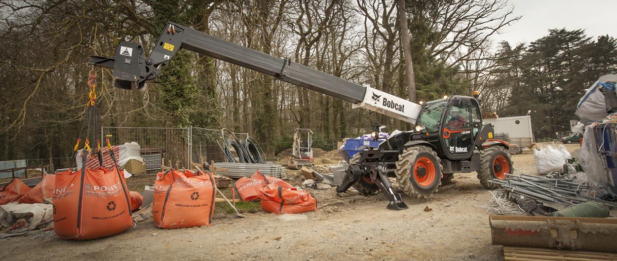 Bobcat Telescopic Handler T35.130S with Jib Crane attachment