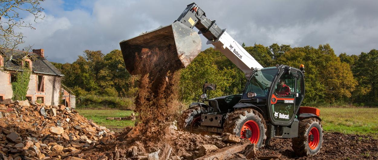 Bobcat Telescopic Handler T35105L with Bucket Attachment
