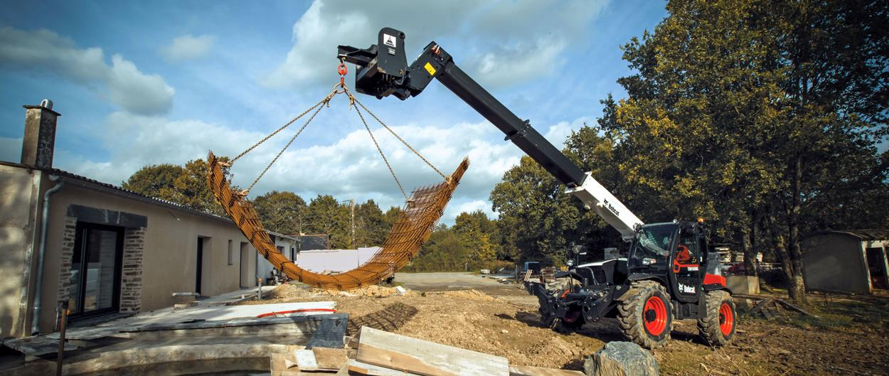 Bobcat Telescopic Handler T36120SL with Crane Jib Attachment