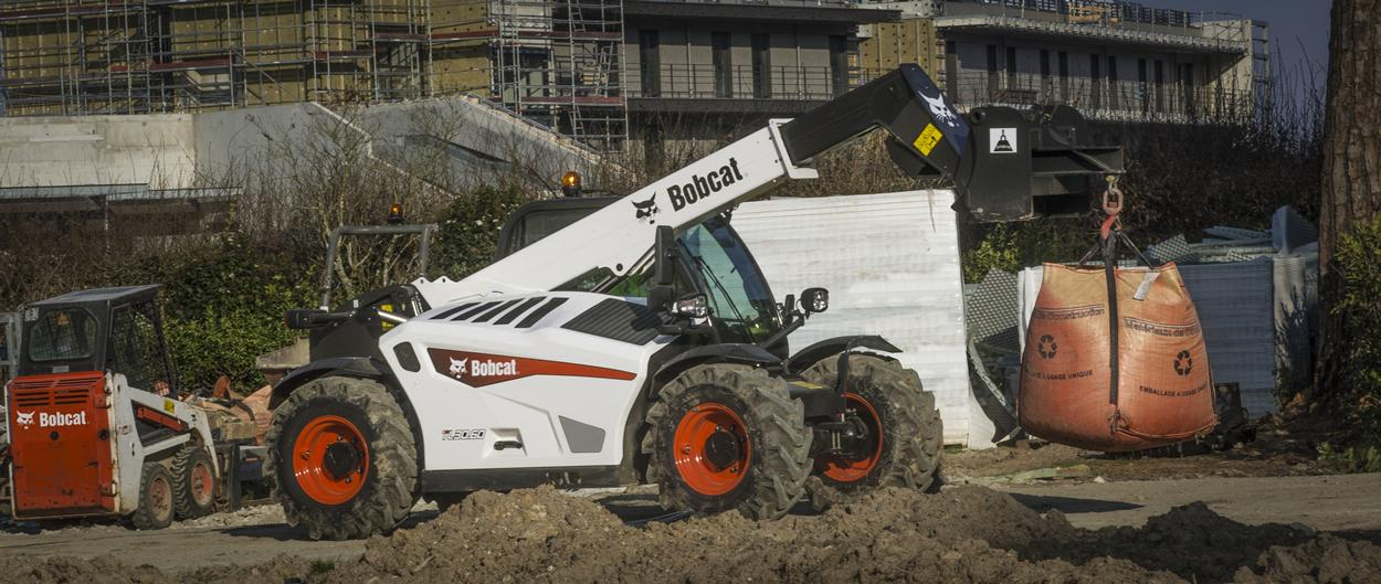 Bobcat TL30.60 Telescopic Loader with Jib Crane Attachment