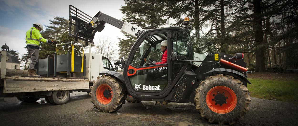 Bobcat TL26.60 Telescopic Loader with Jib Crane attachment