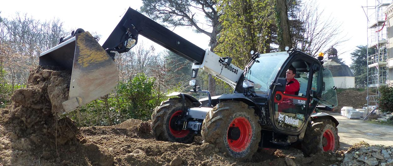 Bobcat Telescopic Loaders TL358 with Bucket Attachment