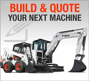 Build & Quote online configuration for Bobcat machines.