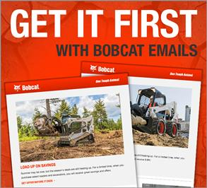 Promo for Bobcat email signup.