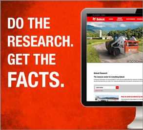 Promo for Bobcat skid-steer and compact track loader research.