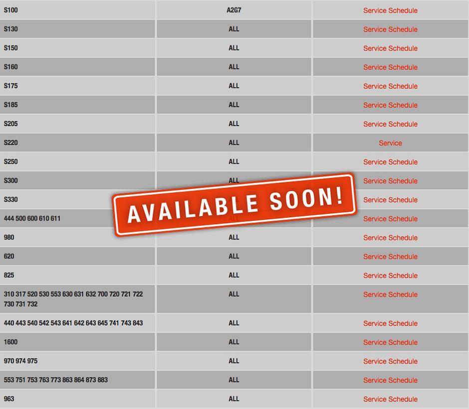 Maintenance Schedules: Non-Current models - Bobcat Company