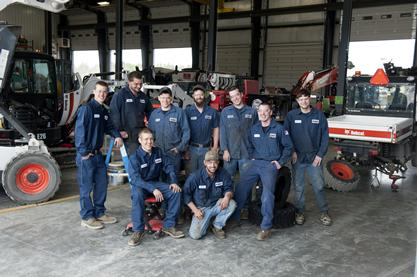 Bobcat dealer service technician group.