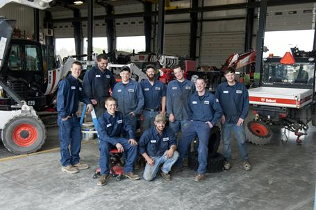 Bobcat dealer service technician group.