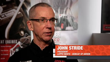 Headshot of John Stride, President of Leppo Rents and Bobcat of Akron.