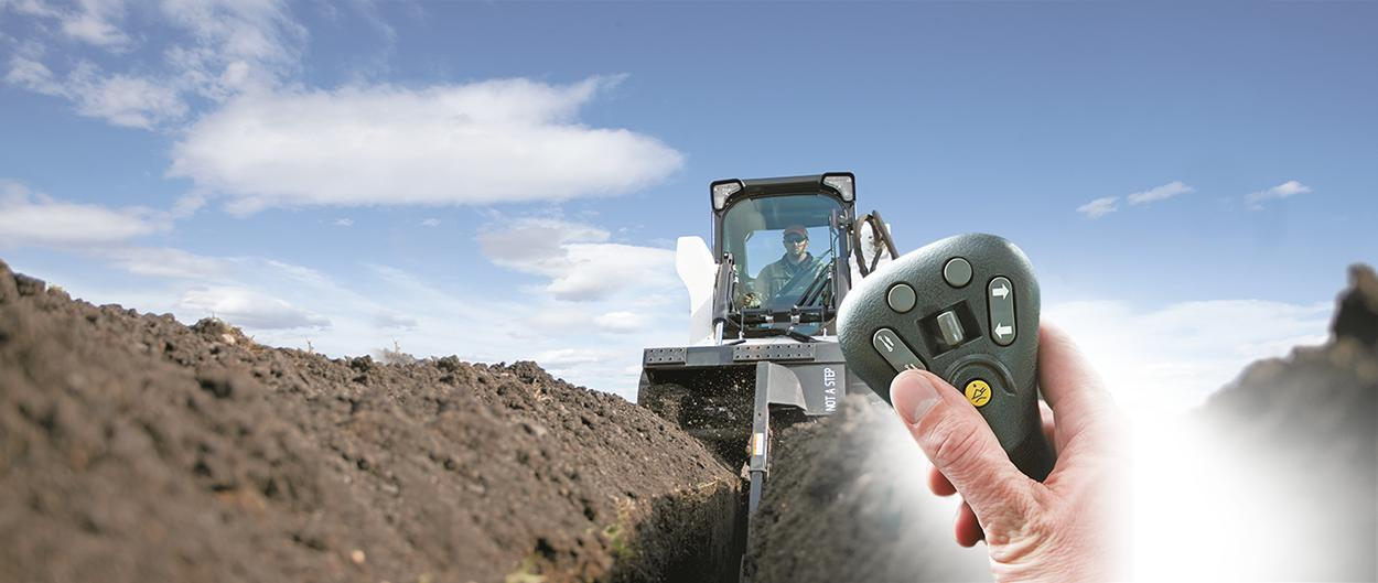 Bobcat loaders with selectable joystick controls.
