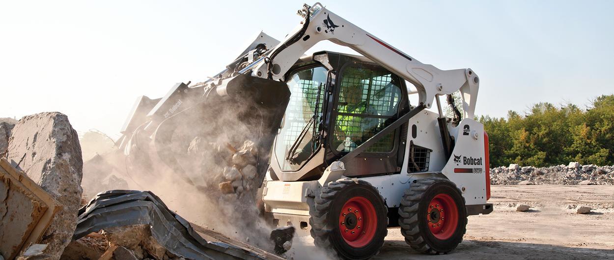 Bobcat skid-steer loader with Tier 4 solution.