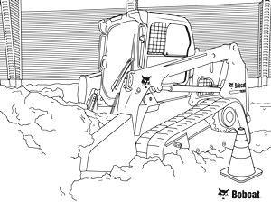 Compact Track Loader Coloring Page