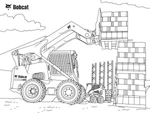 Skid-Steer Loader Coloring Sheet