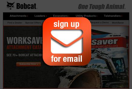 Screenshot of Bobcat email newsletter.