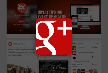 Screenshot of Bobcat Google Plus page.