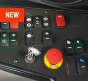 The control panel inside a VersaHANDLER V519 telehandler.
