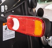 A signal light on the VersaHANDLER V519 telehandler.