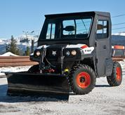 Integrated snow blade on the Bobcat 3400 utility vehicle.