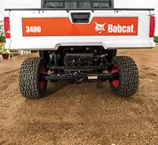 Rear view of Bobcat 3400 utility vehicle showing de Dion suspension system.