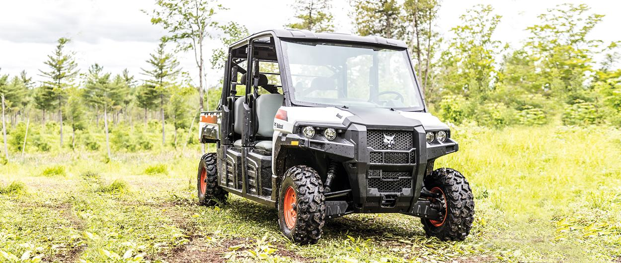 Bobcat 3400XL UTV parked on a outdoor trail.