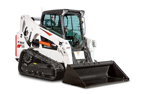 Bobcat T650 compact track loader with a standard duty bucket