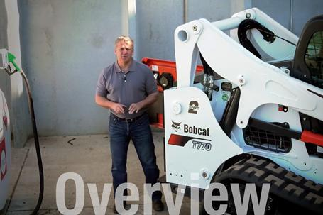 A video about fuel tank capacity on a compact track loader.