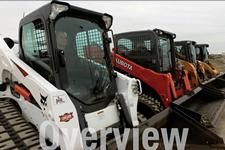 Bobcat loader in a speed test with Kubota, Caterpillar, Case and New Holland loaders.