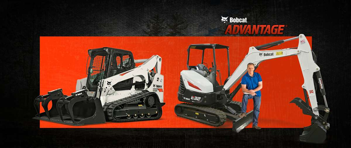 A Bobcat T770 compact track loader and an E35 compact excavator sit near Perry Rust.