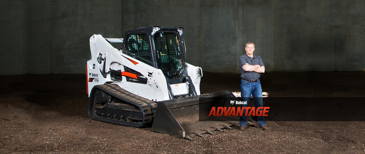 Bobcat Advantage preview featuring a compact track loader.