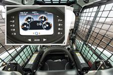 Bobcat compact loader cab and deluxe instrumentation panel.