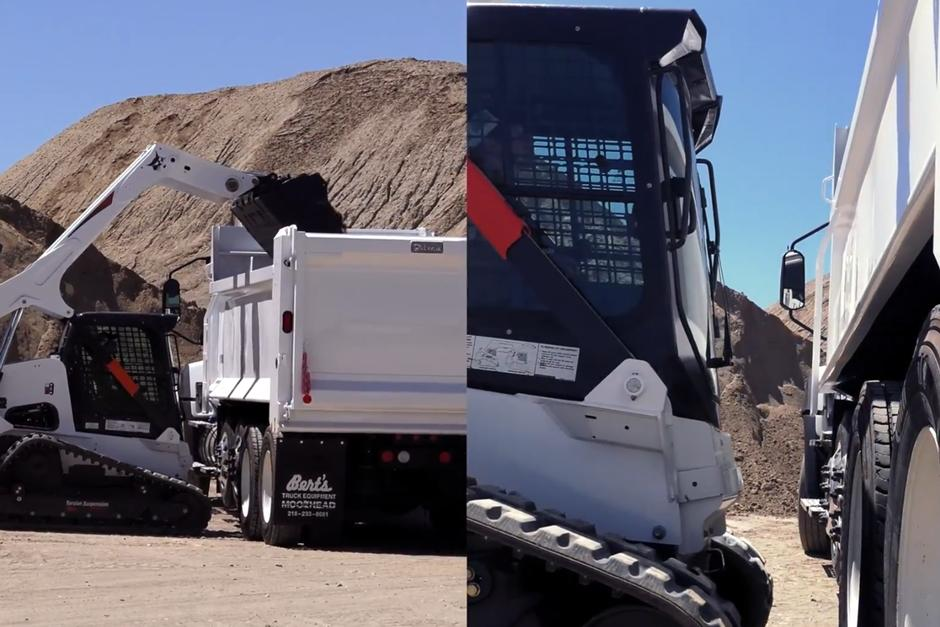 Bobcat compact track loader with 5-Link torsion suspension undercarriage video focusing on stability features..
