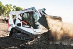 Bobcat T770 compact track loader working on a ranch.