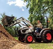 Path Levelling Attachment on Bobcat Compact Tractors on Acreage