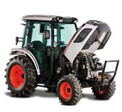 Lifted Metal Hood on Bobcat Compact Tractors