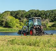 Live Power Take-Off on Bobcat Compact Tractors Mowing Brush on a Farm