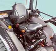 Enclosed Cab Inside a Bobcat Compact Tractor
