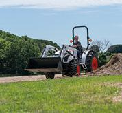 Bobcat Compact Tractor with Front End Loader on Acreage