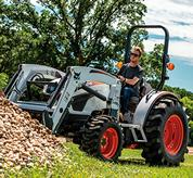 3-Range Hydrostatic Transmission on Bobcat Compact Tractor Mowing Farmstead