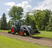 Bobcat E-HST Compact Tractor Transmission Driving on Acreage Path