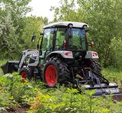 Power Take-Off on Bobcat Compact Tractor With Tiller Implement on Acreage