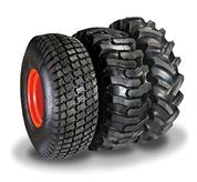 Two tire options: Industrial tire standard