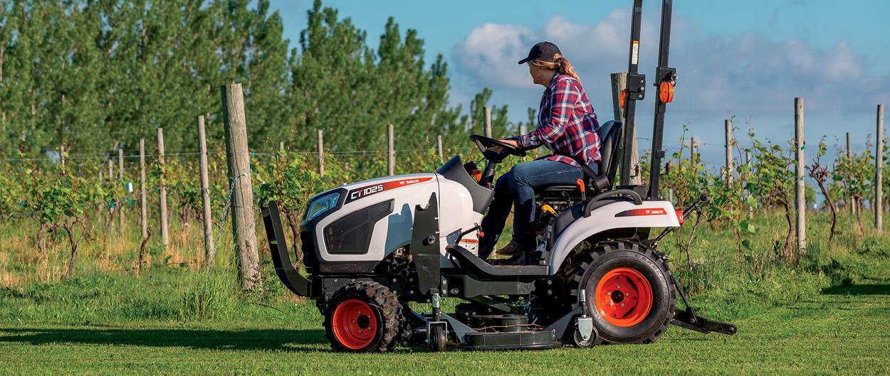 Bobcat CT1025 Working With Mid-Mount Mower