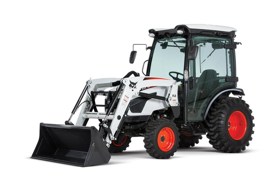 Studio Shot Of Bobcat CT2540 Compact Tractor With Front-End Loader