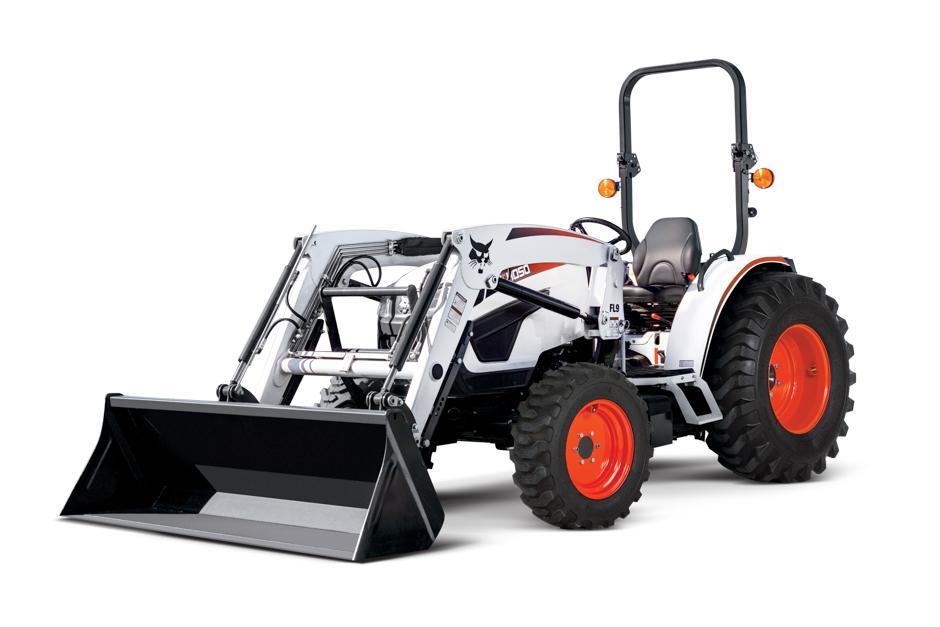 Bobcat CT4050 Compact Tractor With Front-End Loader Attachment.