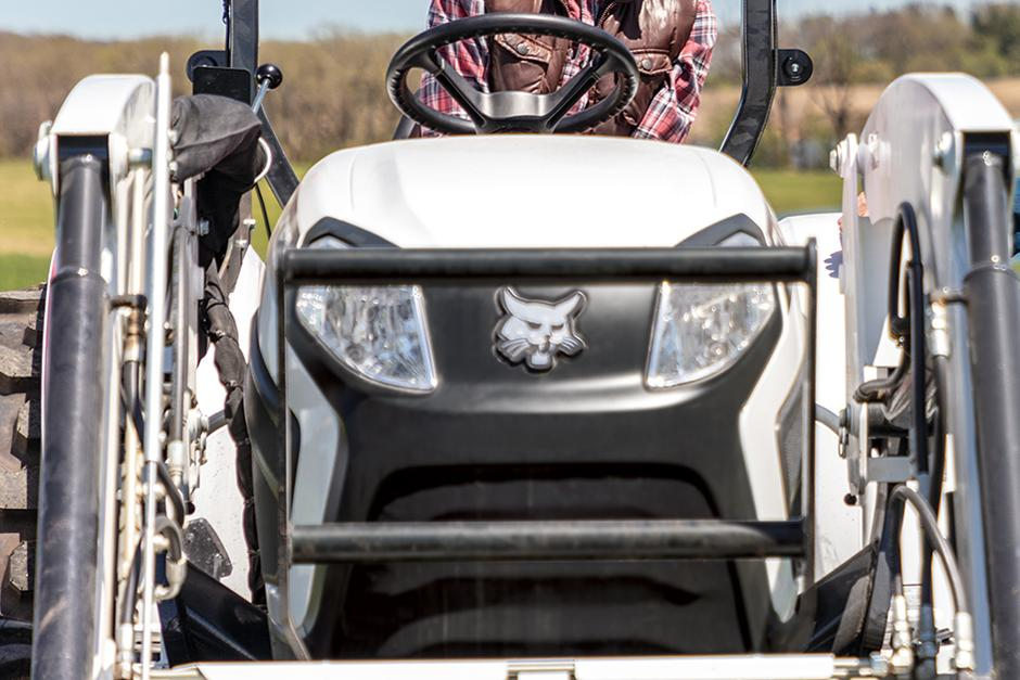 Close-Up Of Grill Guard On Front Of CT4050 Compact Tractor