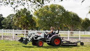 Bobcat Customer Grades Horse Riding Arena With A Box Blade Implement On A Compact Tractor