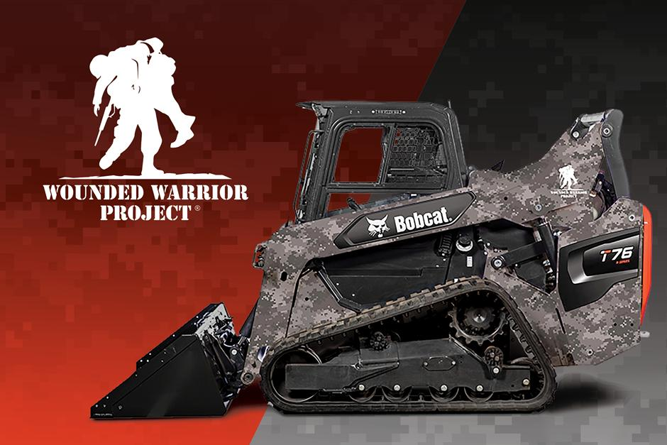 Bobcat Compact Track Loader Wounded Warrior Scale Model