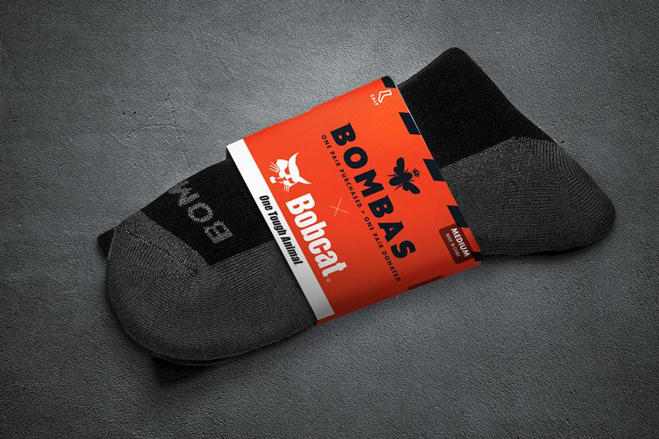 Bombas Socks Giveaway In Bobcat CONEXPO Booth